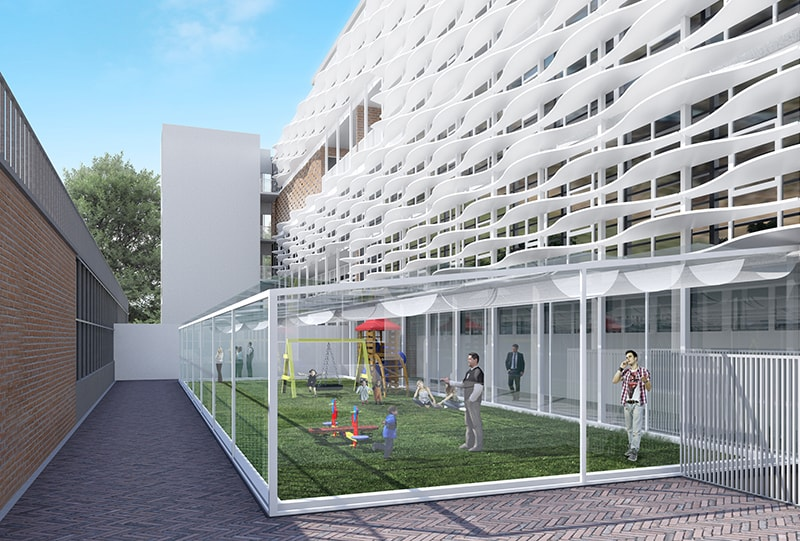 Padova Pediatric Hospital by Fantetti Workshop at Vicenza Italy