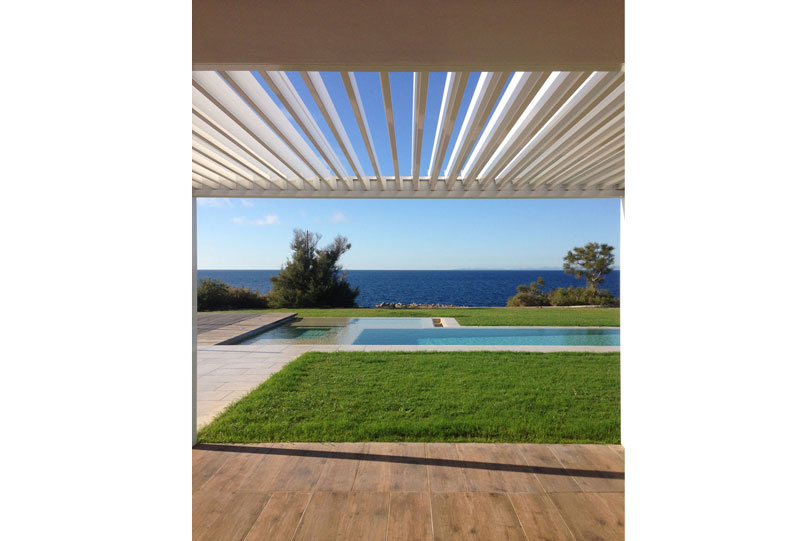 Swimming pool of the Villa at Menorca, Spain built by Fantetti Workshop.
