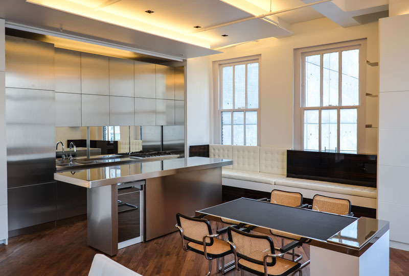 Kitchen of NY Apartment by Italian Architect Alessandro Fantetti