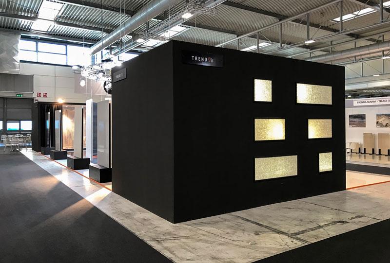 Design dell'architetto Alessandro Fantetti - Stand per l'azienda Trend